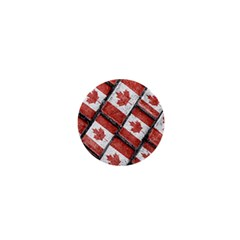 Canadian Flag Motif Pattern 1  Mini Buttons by dflcprints
