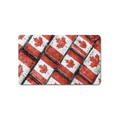 Canadian Flag Motif Pattern Magnet (name Card) by dflcprints