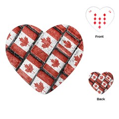 Canadian Flag Motif Pattern Playing Cards (heart)  by dflcprints