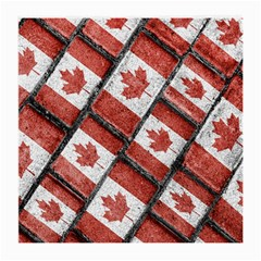 Canadian Flag Motif Pattern Medium Glasses Cloth (2 Side) by dflcprints