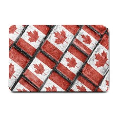Canadian Flag Motif Pattern Small Doormat  by dflcprints