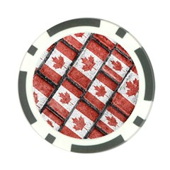 Canadian Flag Motif Pattern Poker Chip Card Guard (10 Pack) by dflcprints