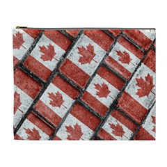 Canadian Flag Motif Pattern Cosmetic Bag (xl) by dflcprints