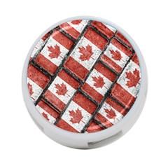 Canadian Flag Motif Pattern 4 Port Usb Hub (one Side) by dflcprints
