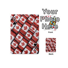 Canadian Flag Motif Pattern Playing Cards 54 (mini)  by dflcprints