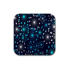 Wallpaper Background Abstract Rubber Square Coaster (4 Pack)  by Onesevenart