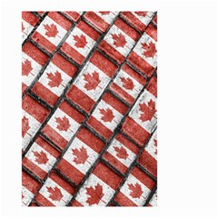 Canadian Flag Motif Pattern Small Garden Flag (two Sides) by dflcprints