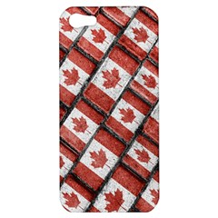 Canadian Flag Motif Pattern Apple Iphone 5 Hardshell Case by dflcprints