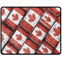 Canadian Flag Motif Pattern Double Sided Fleece Blanket (medium)  by dflcprints