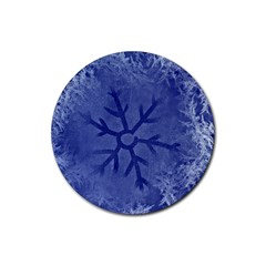 Winter Hardest Frost Cold Rubber Coaster (round)  by Onesevenart