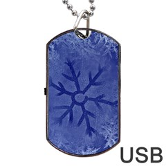 Winter Hardest Frost Cold Dog Tag Usb Flash (one Side) by Onesevenart