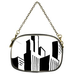 Tower City Town Building Black White Chain Purses (one Side)  by Jojostore