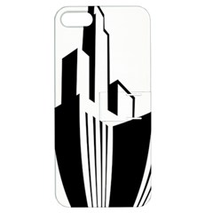 Tower City Town Building Black White Apple Iphone 5 Hardshell Case With Stand by Jojostore