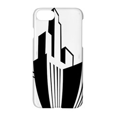 Tower City Town Building Black White Apple Iphone 7 Hardshell Case
