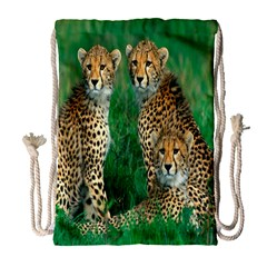 Animals Cheetah Drawstring Bag (large) by Jojostore