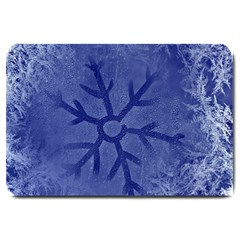 Winter Hardest Frost Cold Large Doormat  by Onesevenart