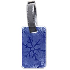 Winter Hardest Frost Cold Luggage Tags (one Side)  by Onesevenart