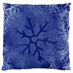 Winter Hardest Frost Cold Large Cushion Case (two Sides) by Onesevenart