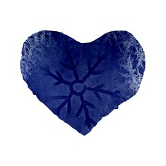 Winter Hardest Frost Cold Standard 16  Premium Heart Shape Cushions by Onesevenart