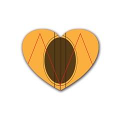 Guitar Picking Tool Line Tone Music Rubber Coaster (heart)  by Jojostore