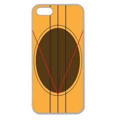 Guitar Picking Tool Line Tone Music Apple Seamless Iphone 5 Case (clear) by Jojostore