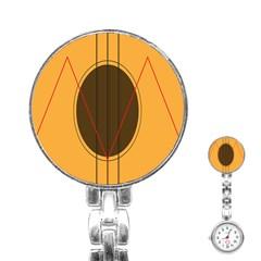 Guitar Picking Tool Line Tone Music Stainless Steel Nurses Watch by Jojostore