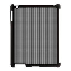 Black Polka Dots Line Plaid Apple Ipad 3/4 Case (black) by Jojostore