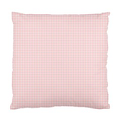 Red Line Plaid Vertical Horizon Standard Cushion Case (two Sides) by Jojostore