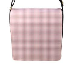 Red Line Plaid Vertical Horizon Flap Messenger Bag (l)  by Jojostore