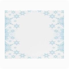 The Background Snow Snowflakes Small Glasses Cloth (2 Side) by Onesevenart