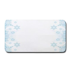 The Background Snow Snowflakes Medium Bar Mats by Onesevenart