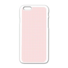 Red Line Plaid Vertical Horizon Apple Iphone 6/6s White Enamel Case by Jojostore