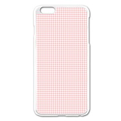 Red Line Plaid Vertical Horizon Apple Iphone 6 Plus/6s Plus Enamel White Case by Jojostore