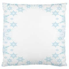 The Background Snow Snowflakes Large Cushion Case (two Sides) by Onesevenart