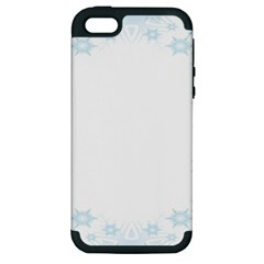 The Background Snow Snowflakes Apple Iphone 5 Hardshell Case (pc+silicone)
