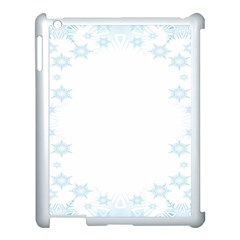 The Background Snow Snowflakes Apple Ipad 3/4 Case (white) by Onesevenart