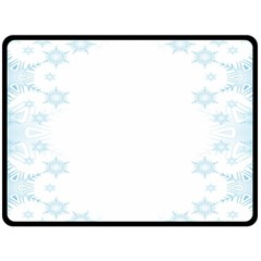 The Background Snow Snowflakes Double Sided Fleece Blanket (large)  by Onesevenart