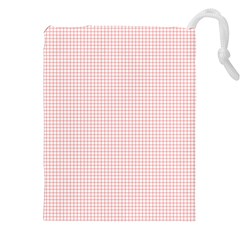 Red Line Plaid Vertical Horizon Drawstring Pouches (xxl) by Jojostore