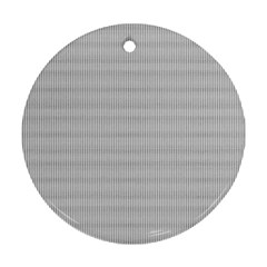 Grey Black Line Polka Dots Round Ornament (two Sides) by Jojostore