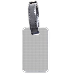 Grey Black Line Polka Dots Luggage Tags (two Sides) by Jojostore