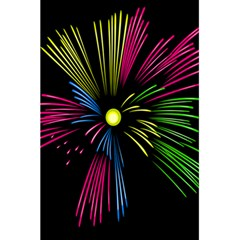 Fireworks Pink Red Yellow Green Black Sky Happy New Year 5 5  X 8 5  Notebooks by Jojostore