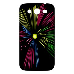 Fireworks Pink Red Yellow Green Black Sky Happy New Year Samsung Galaxy Mega 5 8 I9152 Hardshell Case  by Jojostore