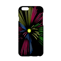 Fireworks Pink Red Yellow Green Black Sky Happy New Year Apple Iphone 6/6s Hardshell Case by Jojostore