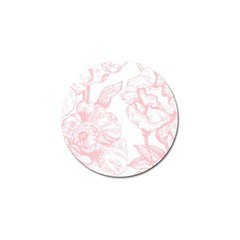 Vintage Pink Floral Golf Ball Marker by 8fugoso
