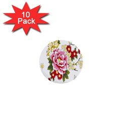 Butterfly Flowers Rose 1  Mini Buttons (10 Pack)  by Jojostore