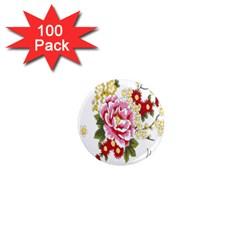 Butterfly Flowers Rose 1  Mini Magnets (100 Pack)  by Jojostore