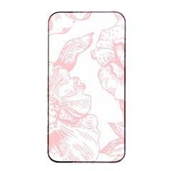 Vintage Pink Floral Apple Iphone 4/4s Seamless Case (black) by 8fugoso
