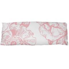Vintage Pink Floral Body Pillow Case (dakimakura) by 8fugoso