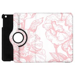 Vintage Pink Floral Apple Ipad Mini Flip 360 Case by 8fugoso