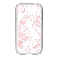 Vintage Pink Floral Samsung Galaxy S4 I9500/ I9505 Case (white) by 8fugoso